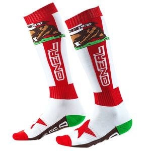 Chaussettes PRO MX - CALIFORNIA I  Red White Brown