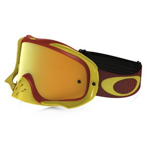 Masque Cross Oakley Crowbar Mx - Shockwava Red Yellow Lens Iridium + Clear 2016