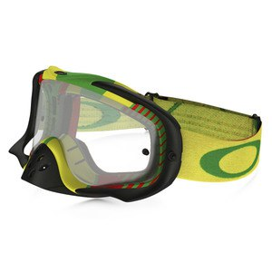 Masque cross CROWBAR MX  - BIO HAZARD RASTA LENS CLEAR 2016 Multicolore