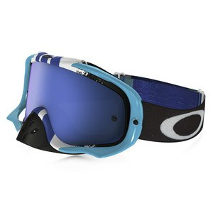 Masque cross CROWBAR MX  - PINNED RACE BLUE WHITE LENS IRIDIUM + CLEAR 2016 Bleu/Blanc