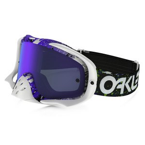 Masque Cross Oakley Crowbar Mx - Factory Pilot Splatter Green Purple Lens Iridium + Clear 2016