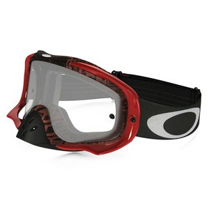 Masque Cross Oakley Crowbar Mx - Distress Tagline Orange Purple Lens Clear 2016
