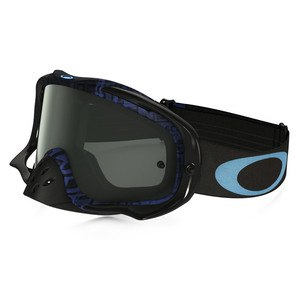Masque Cross Oakley Crowbar Mx - Distress Tagline Stealth Blue Lens Dark Grey 2016