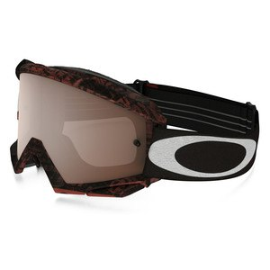 Masque Cross Oakley Proven Mx - Distress Tagline Red Black Lens Iridium + Clear
