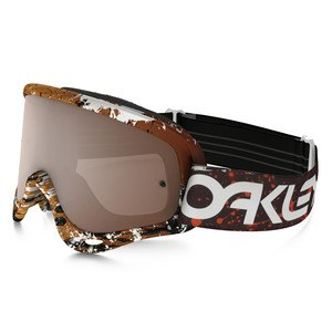 Masque Cross Oakley O Frame Mx - Factory Pilot Splatter Blood Orange Lens Iridium + Clear 2016