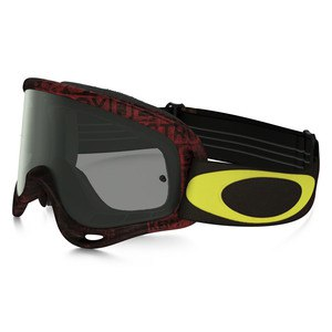 Masque Cross Oakley O Frame Mx - Distress Tagline Red Yellow Lens Dark Grey 2016
