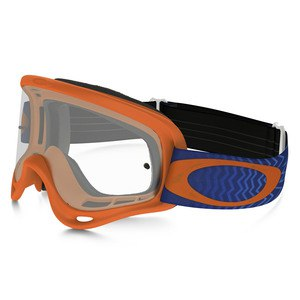 Masque Cross Oakley Xs O Frame Mx - Shockwave Orange Blue Lens Clear
