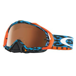 Masque cross MAYHEM PRO MX - CHEETAH BLUE 2017 Noir/Bleu