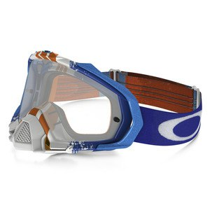 Masque Cross Oakley Mayhem Pro Mx - Pinned Race Blue Orange Lens Clear 2016