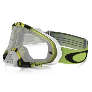 Masque Cross Oakley Mayhem Pro Mx - Pinned Race Green Yellow Lens Clear 2016