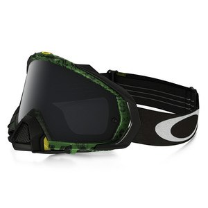 Masque Cross Oakley Mayhem Pro Mx - Distress Tagline Green Yellow Lens Dark Grey 2016