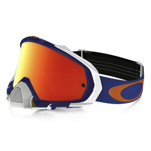 Masque cross MAYHEM PRO MX  - SHOCKWAVE BLUE ORANGE LENS IRIDIUM 2016 Bleu/Orange