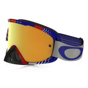 Masque Cross Oakley O2 Mx - Bio Hazard Rb Lens Iridium + Clear 2016
