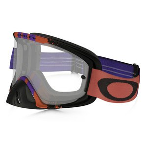 Masque cross O2 MX  - PINNED RACE WARM RED PURPLE LENS CLEAR 2016 Rouge/Violet