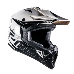 Casque cross SKUD DALLAS BLACK/WHITE  Black/White