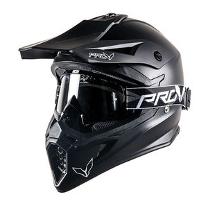 Casque cross SKUD BASE BLACK MAT  Black mat
