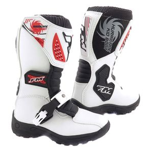 Bottes Cross Fm Racing Hurricane White Enfant 2018