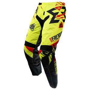 Pantalon Cross Shot Destockage Contact Trooper Neon Jaune Rouge 2017