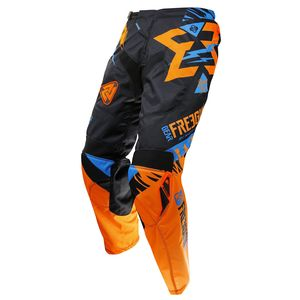 Pantalon cross CONTACT TROOPER NEON ORANGE CYAN 2017 Orange/Bleu