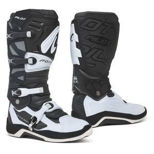 Bottes cross PILOT BLACK/WHITE 2021 Noir/Blanc