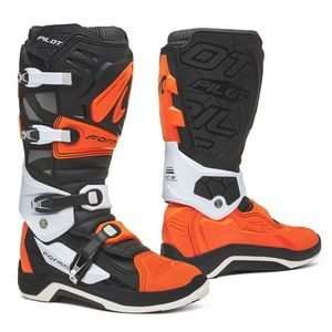 Bottes cross PILOT BLACK/ORANGE/WHITE 2021 Noir Orange