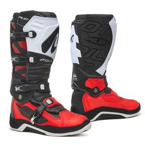 Bottes cross PILOT BLACK/RED/WHITE 2021 Noir/Blanc/Rouge