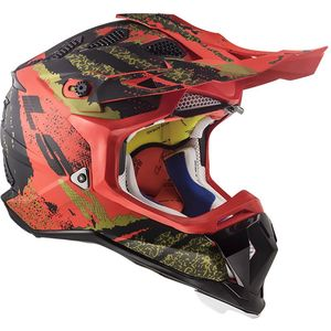 Casque cross MX470 - SUBVERTER - CLAW MATT BLACK RED 2019 Matt Black Red