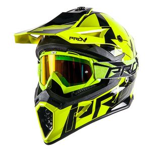 Casque cross SKUD BIKKI YELLOW FLUO  Yellow/Fluo