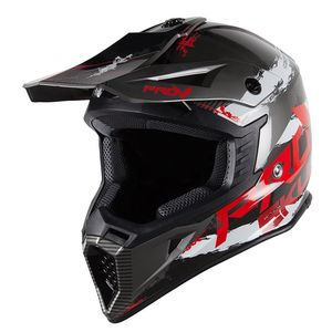 Casque cross SKUD STO  Black/Red