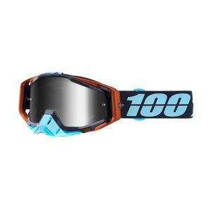 Masque Cross 100% Racecraft - Ergono - Ecran Iridium Argent 2018