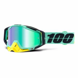 Masque cross RACECRAFT - KLOOG - ECRAN IRIDIUM - 2020 Vert/jaune