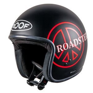 Casque RO5 ROADSTER PEACE  Noir/Rouge