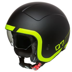 Casque ROCKER - LN - FLUO MATT  Black Matt / Yellow