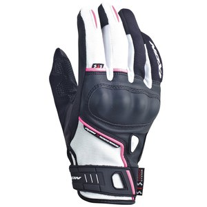 Gants RS GRIP LADY HP  Noir/Blanc/Fuschia