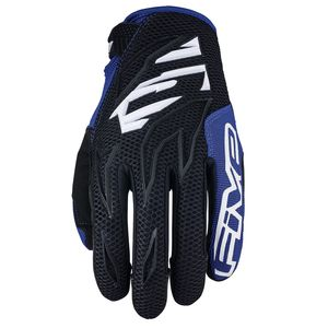 Gants cross MXF3 - BLACK WHITE BLUE 2019 Noir Blanc Bleu