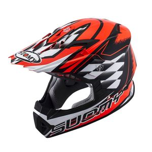 Casque cross RUMBLE STROKE RED  2017 Rouge