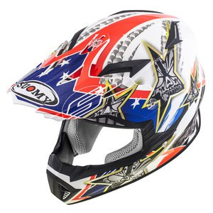 Casque cross RUMBLE - TEX 2019 Blanc/Bleu