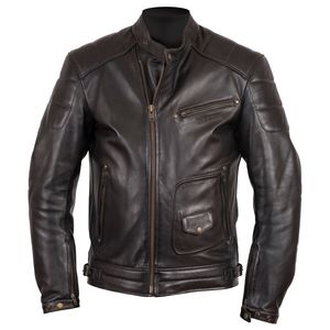 Blouson RUSTY - cuir Dirty  Marron