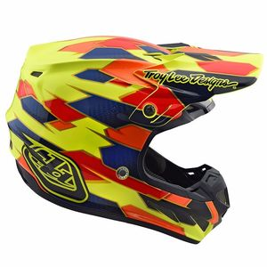 Casque cross SE4 COMPOSITE MAZE YELLOW BLUE 2018 Yellow Blue