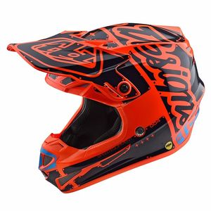 Casque cross SE4 POLYACRYLITE YOUTH - FACTORY - ORANGE  Orange Bleu