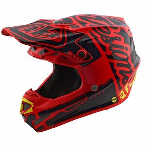 Casque cross SE4 POLYACRYLITE FACTORY RED 2018 Rouge