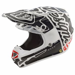 Casque cross SE4 POLYACRYLITE FACTORY RED 2018 Black White
