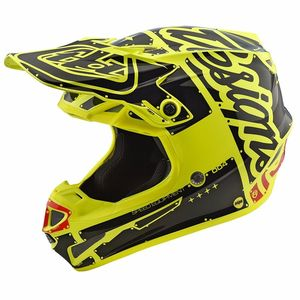 Casque cross SE4 POLYACRYLITE FACTORY YELLOW 2018 Yellow