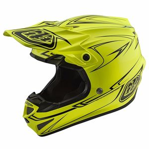 Casque cross SE4 POLYACRYLITE PINSTRIPE 2018 Yellow