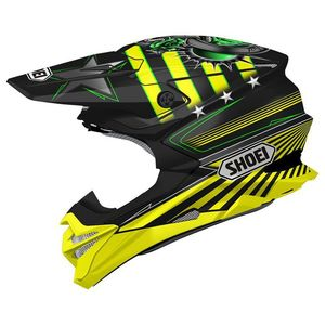 Casque cross VFX-WR REPLICA GRANT 3 BLACK YELLOW TC-3 2019 Noir/Jaune