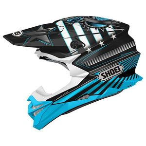 Casque Cross Shoei Vfx-wr Replica Grant 3 Black Blue Tc-2 2018