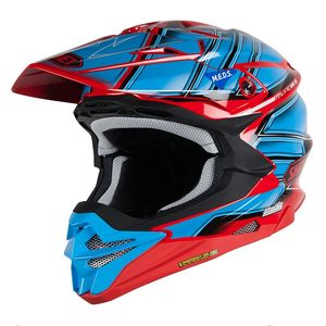 Casque Cross Shoei Vfx-wr Glaive Blue Red Tc-1 2018