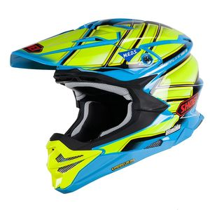 Casque Cross Shoei Vfx-wr Glaive Blue Yellow Tc-2 2018