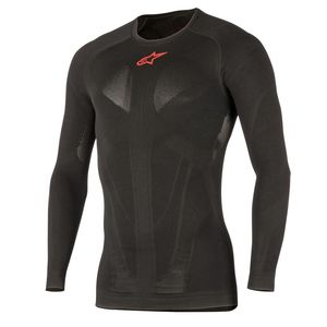 Maillot/gilet TECH TOP LONG SLEEVE SUMMER  Black Red