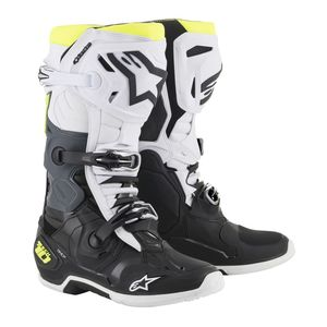 Bottes Cross Alpinestars Tech 10 Black White Yellow Fluo 2019